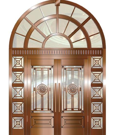 仿铜门边图片效果图区欧式几何
