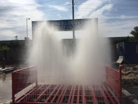 洗轮机 工地洗车台丨建筑工地100T洗车