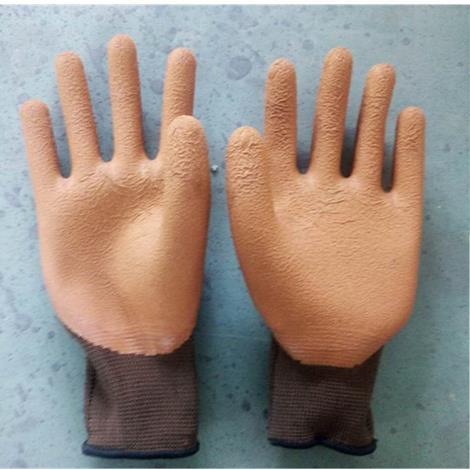 7号13针尼龙发泡乳胶手套加厚耐磨防滑防