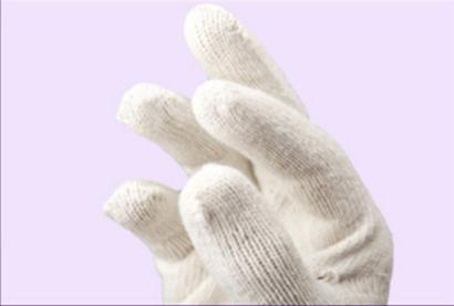 厂家批发压花机织13针尼龙涤纶手套透气防