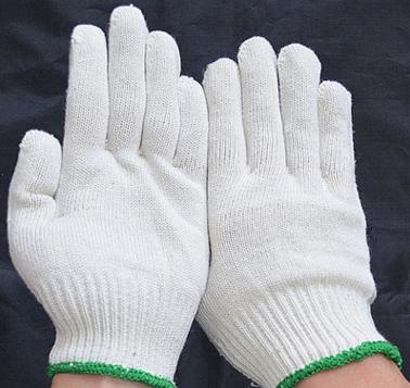 工厂生产批发白色棉纱针织加密耐磨工作防护