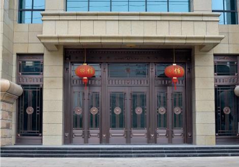 豪华工程铜门