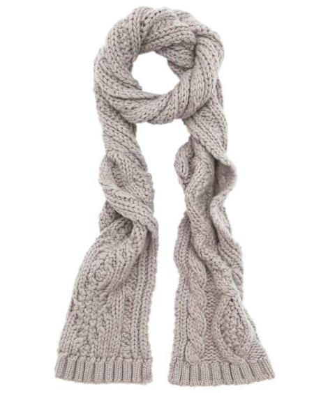 针织花纹围巾