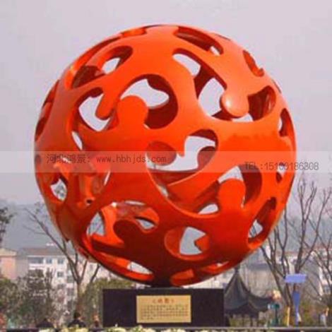 不銹鋼圓球雕塑  鏤空圓球雕塑  發光球