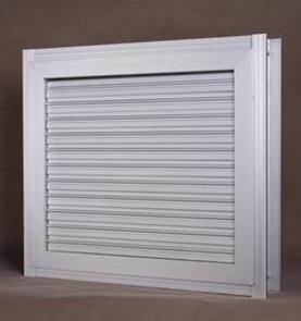 电动双层防雨百叶窗
