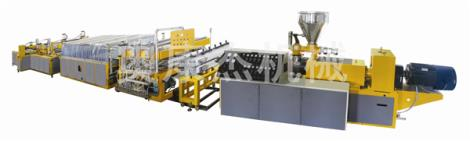 西安pvc结皮发泡木塑板材生产线