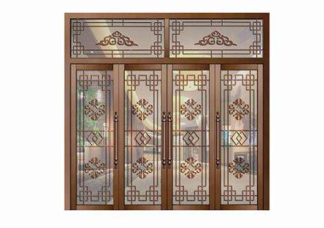 别墅豪华家装铜门