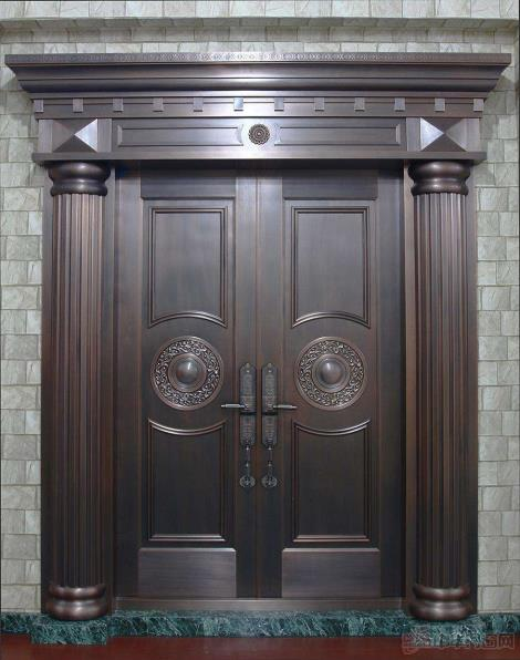 防火亮光漆铜门