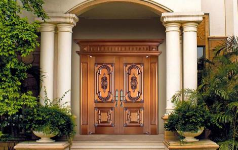 防火哑光漆铜门