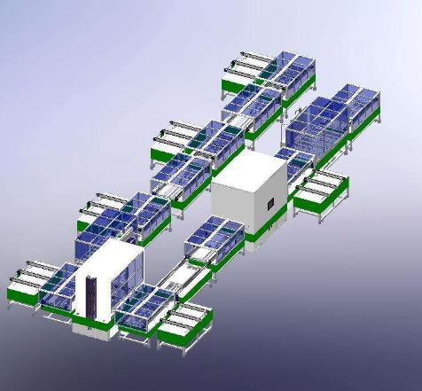 光伏新能源电池组件自动化生产线