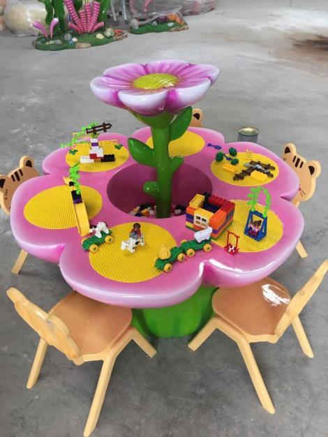 向日葵积木桌