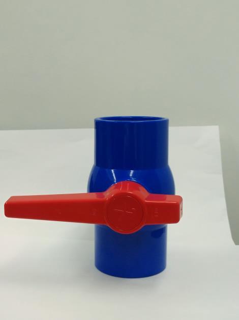 pvc球阀-蓝色