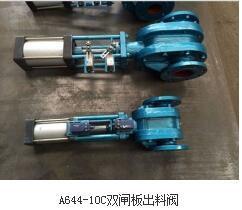 A644-10C双闸板出料阀