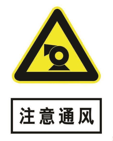 注意通风20+16标志牌
