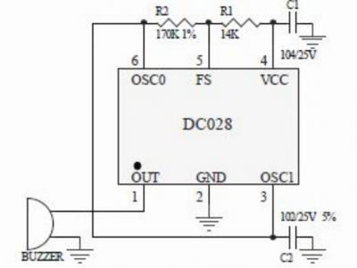DC028压电式蜂鸣器专用驱动电路