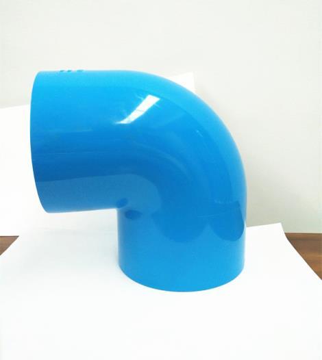 蓝色pvc90度弯头