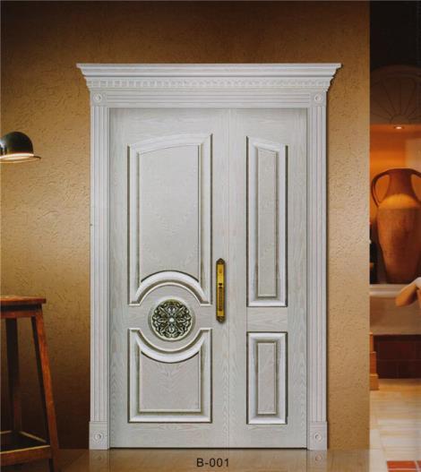 实木白漆门加工