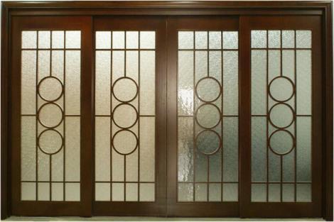 实木玻璃门加工