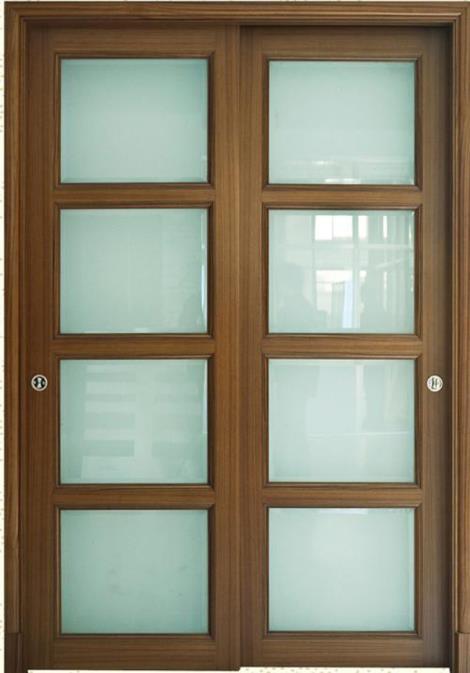 丹阳实木玻璃门