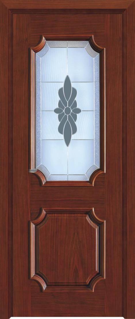 金坛实木玻璃门