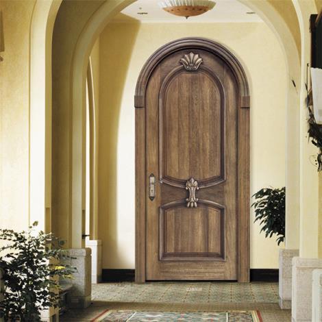 金坛实木拱形门