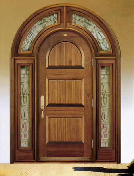 实木拱形门