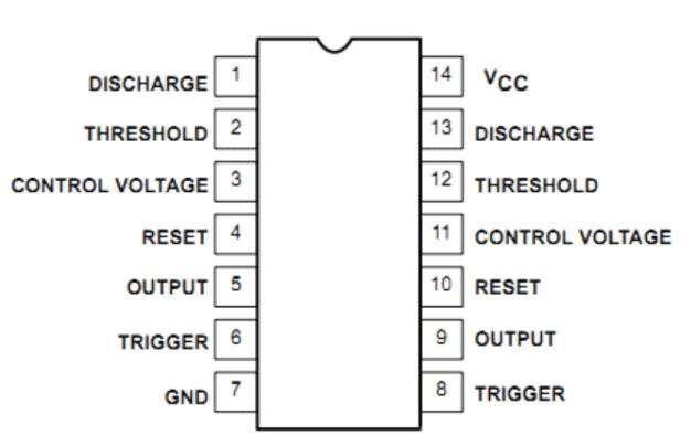 NE556双路通用双定时时基电路