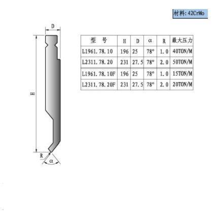 数控折弯模具