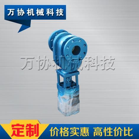 DN65陶瓷双闸气锁复合陶瓷出料阀
