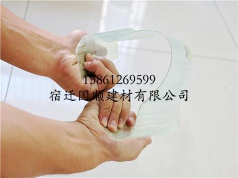 FRP glass fiber reinforced plastic transparent tile production
