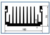 铝板冲压叉指形散热器xzwk-025