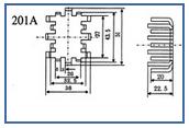 铝板冲压叉指形散热器xzwk-201A