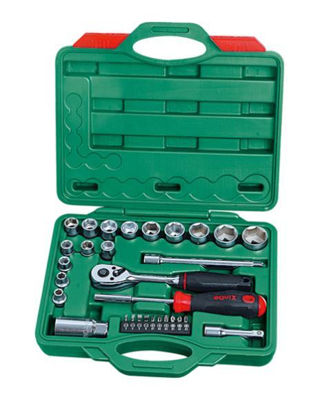 18件1'2系列铬钒套筒组合工具