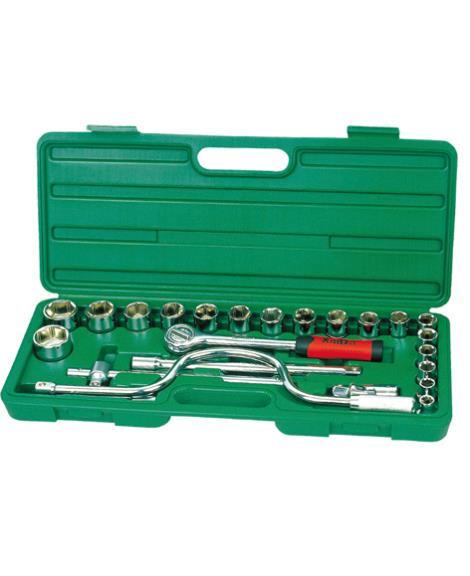 25件1'2系列套筒组合工具