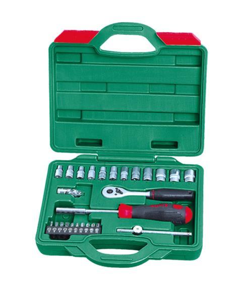 26件1'4系列铬钒套筒组合工具