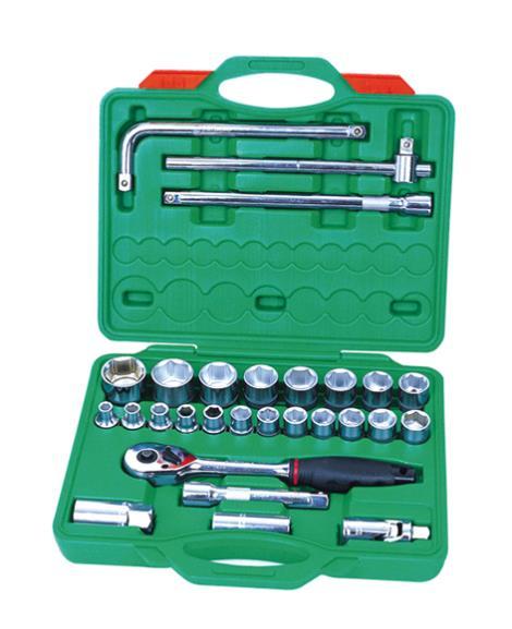 28件1'2系列铬钒套筒组合工具