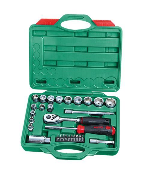30件3'8系列铬钒套筒组合工具