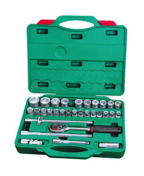 32件1'2系列铬钒套筒组合工具