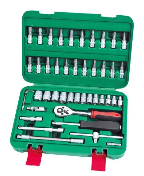 46件1'4系列铬钒套筒组合工具