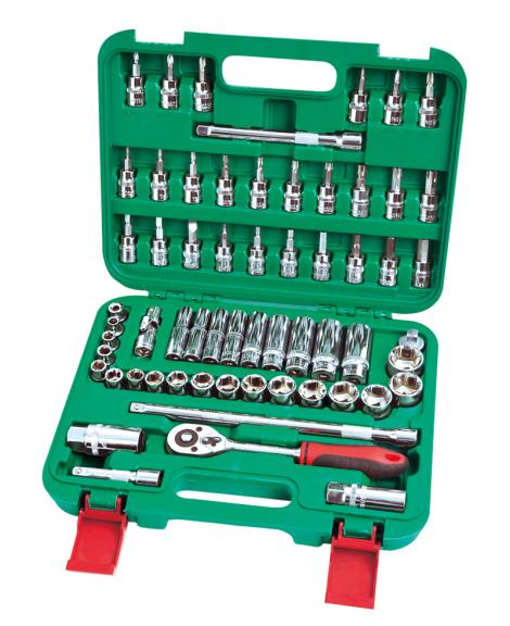61件3'8系列铬钒套筒组合工具