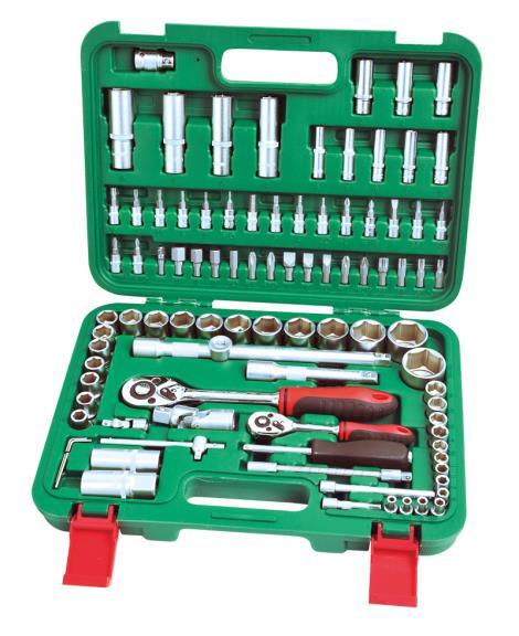 94件1'4&1'2系列铬钒套筒组合工具
