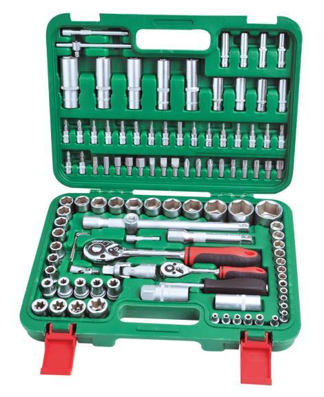 108件1'4&1'2系列套筒组合工具