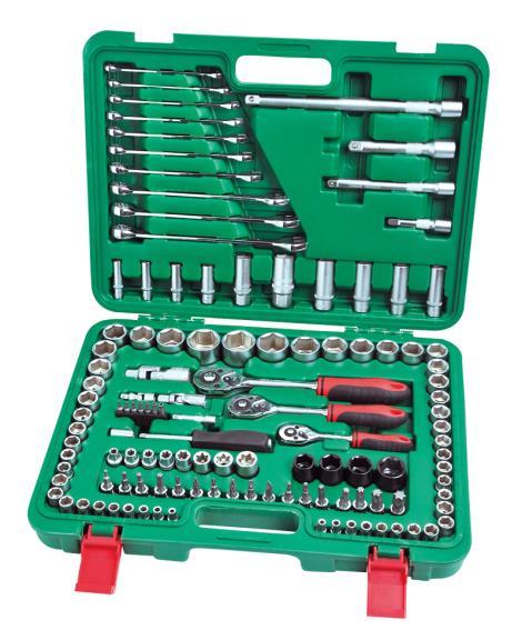 120件1'4&3'8系列套筒组合工具