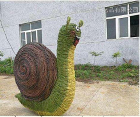 蜗牛稻草工艺品