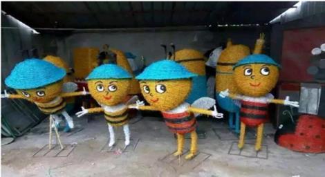 蜜蜂稻草工艺品
