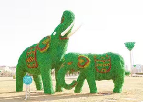 大象仿真绿雕