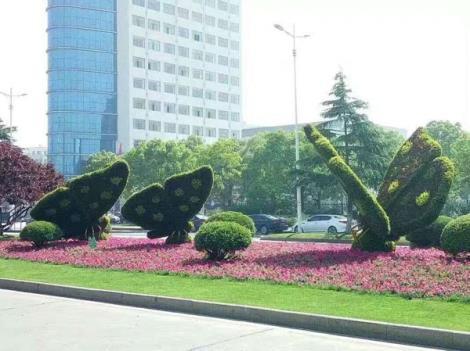 春暖花开主题绿雕