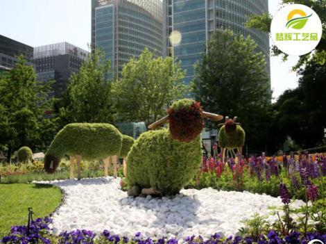 动物绿雕羊