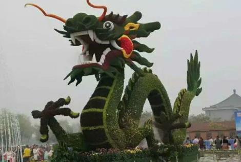 龙主题公园绿雕