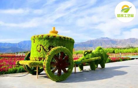 牛车蒙古包绿雕